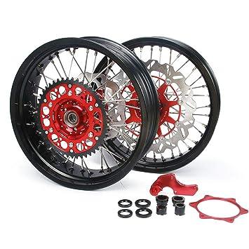 Juego de ruedas de motocicleta+rotor de disco de freno flotante + soporte de pinza ...