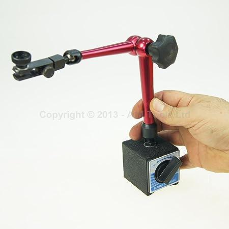 Argent 10/mm Dial Test Indicator UEETEK lubrification Gobelet /à sonde dCadran Test Plage de mesure 0