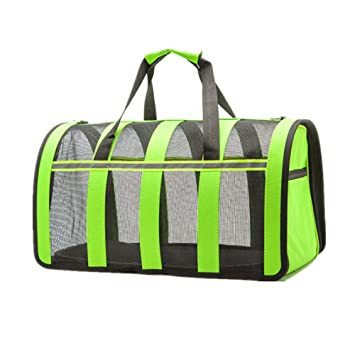 Showlovein Bolsa de transporte para gatos perros Bolsa de transporte de nailon ligero plegable ideal Fur