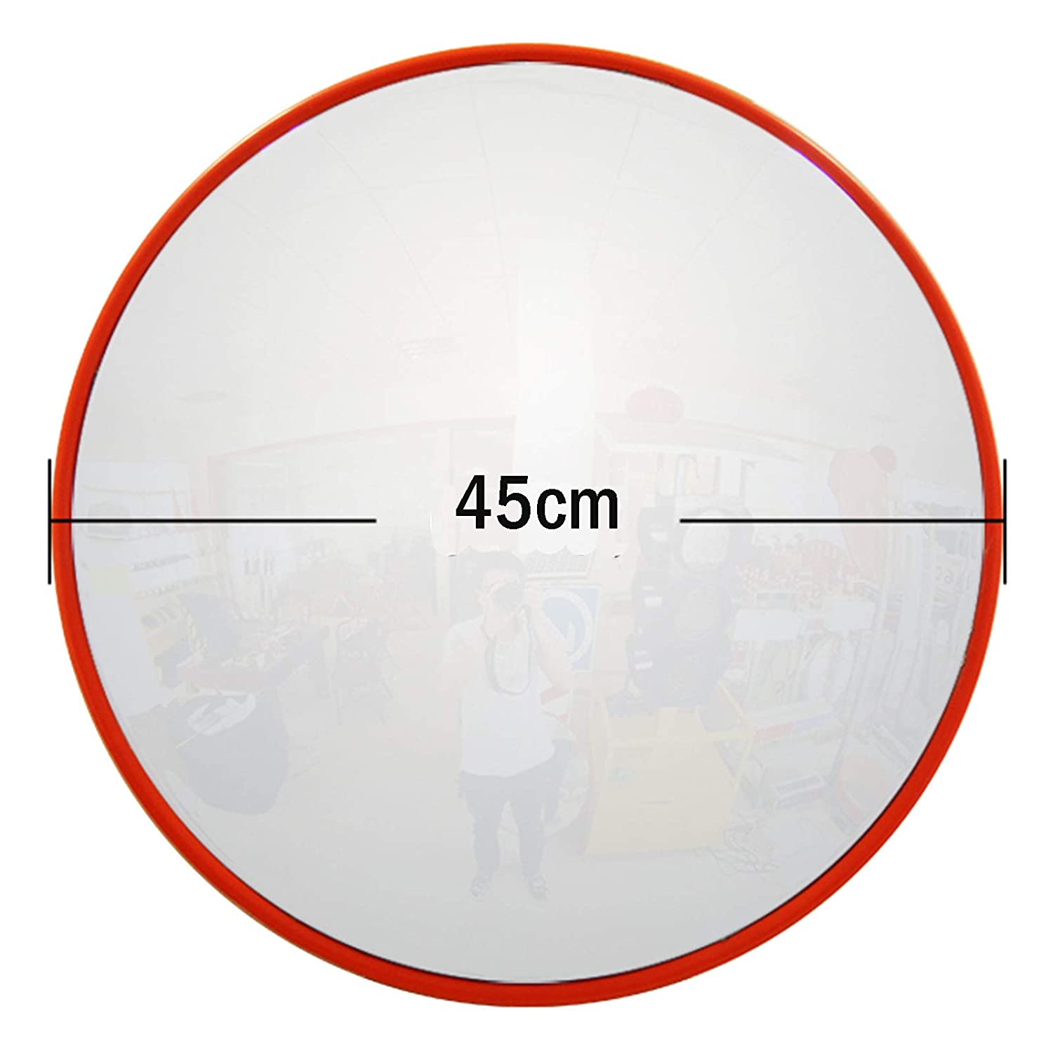 Convex Unbreakable Traffic Mirror For Driveway 130 Degree Wide Angle Blind Spot Mirror Security Mirror For Road Safety//Garage//Parking//Shop Security//Home Driveway//Alley//Car Park//Hospital//School 30CM
