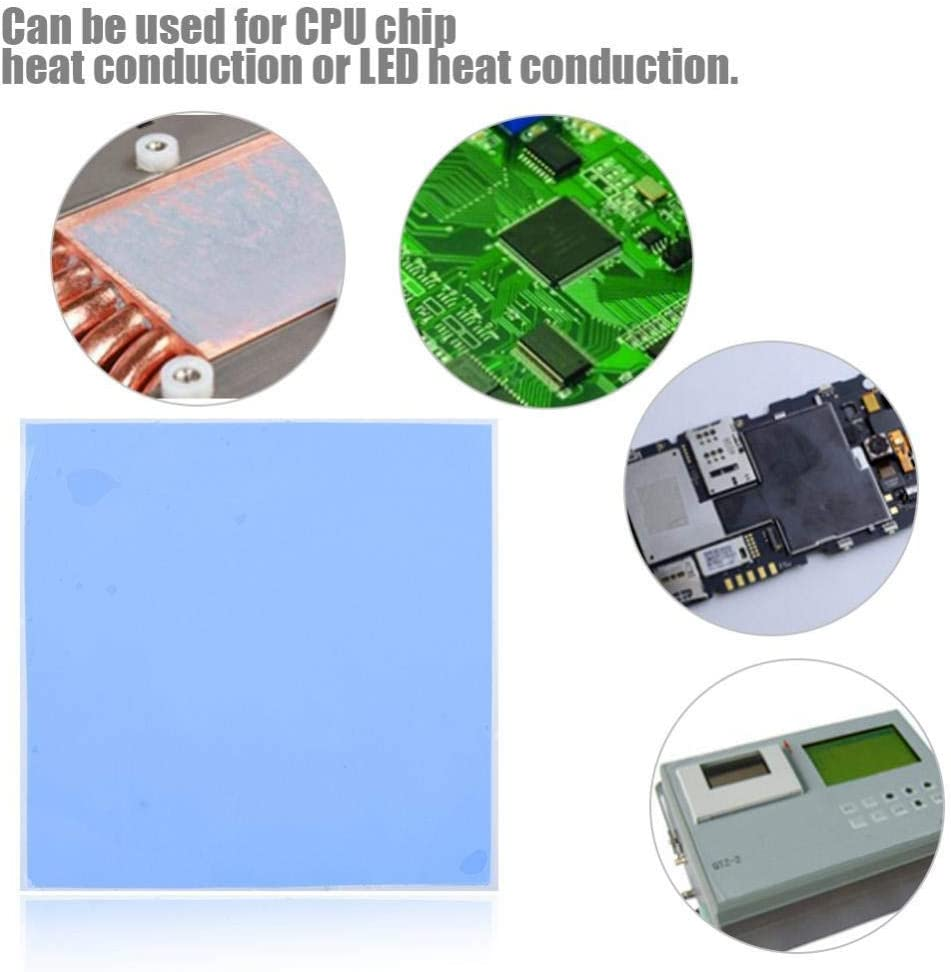 CPU Heatsink Cooling Conductive Silicone Pad 100mm x 100mm x 3mm CPU Chip Heatsink Cooling Thermal Conductive Silicone Pad