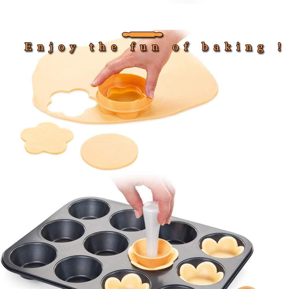 Runflory Instant Tart and Pie Molder Perfect-Tart Tamper DIY Baking Shaping Kitchen Tool