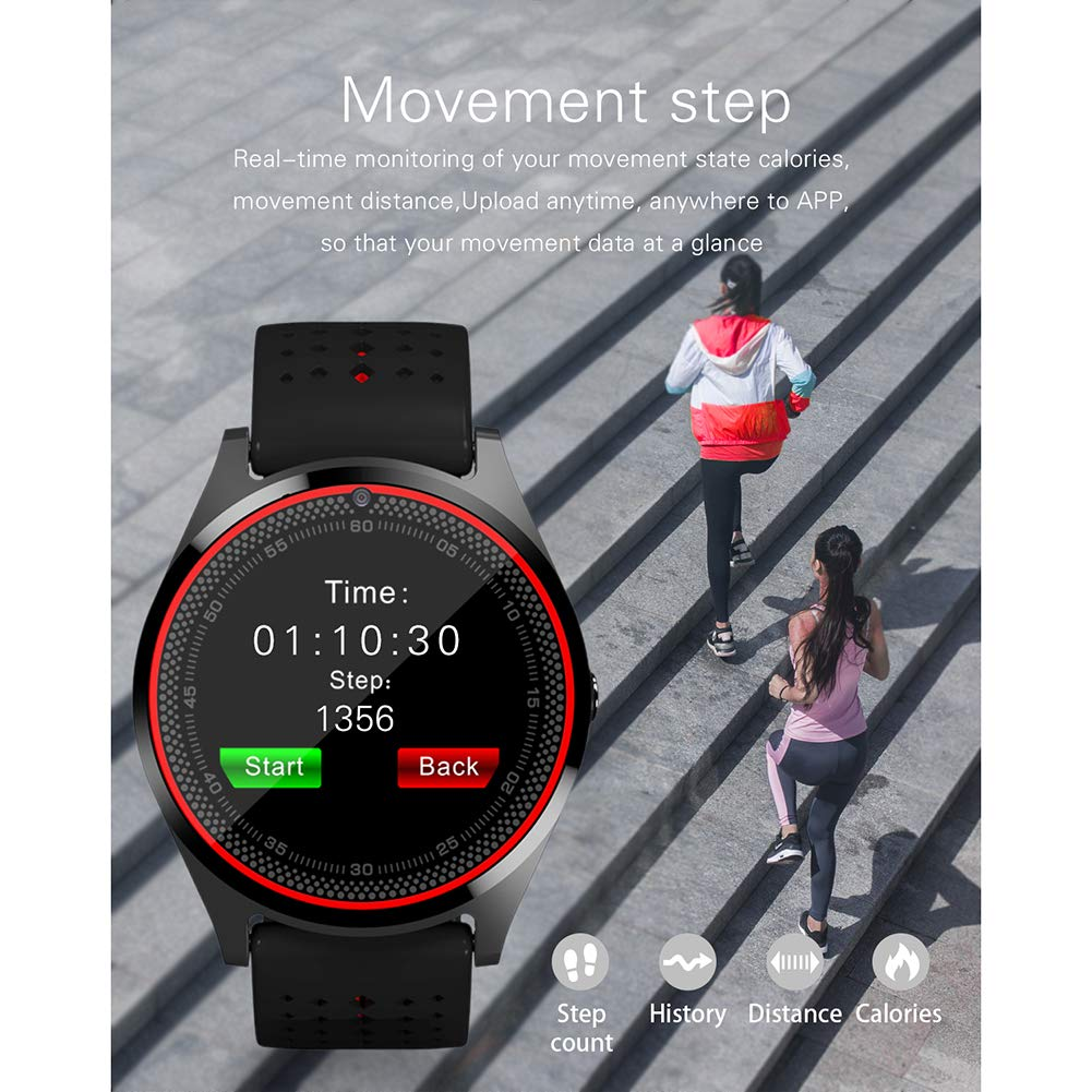 smart watch V9, Bluetooth Fitness Watch con Monitor De Ritmo ...