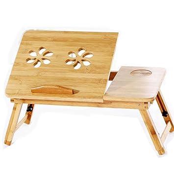 NACHEN Bambus Holz Faltbare Schreibtisch Für Bett Schlafzimmer Wohnzimmer  Schreibtisch Schreibtisch Mit Lüfter, Wooden