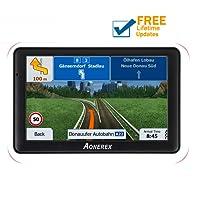 SAT NAV GPS Navigation System AONEREX-7-inch HD Touch Screen,Voice Car Navigation System, Built-In 8GB&256MB,UK&EU Latest 2018 Maps Lifetime Free Updates