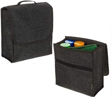 30x16x29cm Organizador de maletero de fieltro de lana Organizador de la caja de almacenamiento del coche Bolsa Estufa a prueba de fuego Ordenando Estilo del coche Caja de almacenamiento del coche: Amazon.es: