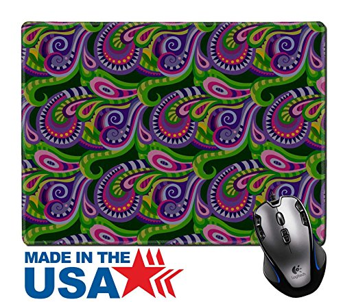 "MSD Natural Rubber Mouse Pad/Mat with Stitched Edges 9.8"" x 7.9"" Seamless paisley pattern for design gift patterns fabric wallpaper web sites IMAGE - Websites Hot Images"