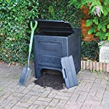 Garden Mile Large Black 260L Garden Bin Composter Eco Friendly Recycling Garden Leaves Waste Disposal Rubbish Compost Box