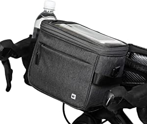 Rhinowalk Bike Basket,Lunch Box Insulated Bike Handlebar Bag Bike Front Bag Camera Bag Handbag Phone Bag with Touch Screen Shoulder Strap Professional Cycling Accessories