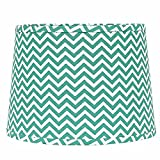 """Home Collection by Raghu 0D790082 Sea foam & White Chevron Regular Clip Drum Lampshade, 10"""""""
