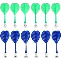 Dovewill 12 Piezas de Dardos Magnetico para Deportista Accesorio Reemplazable de Plastico Duradero Ligero