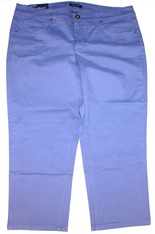 Bandolino Women's Tatyana Blue Slim Fit Capri Pants