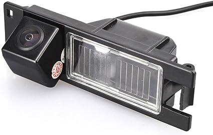 NTSC Nero per Astra H//Corsa D//Meriva A//Vectra C//Zafira B,FIAT Grande Punto Meriva Navinio Telecamere posteriori in luce targa