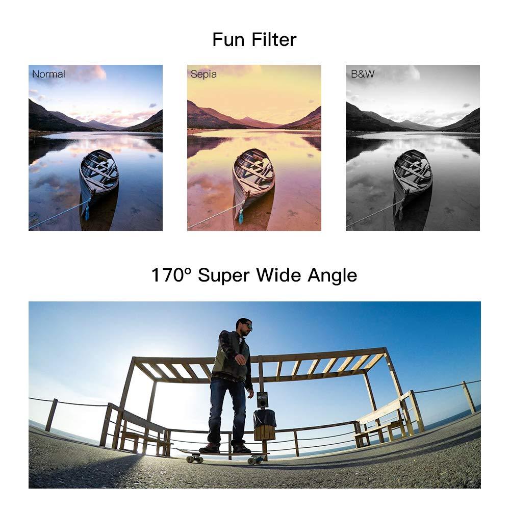 APEMAN Action CAM 4K HD WiFi 16 MP con Mando a Distancia y micr/ófono Externo 40 m Impermeable c/ámara Sumergible EIS estabilizaci/ón c/ámara Time Lapse Slow Motion con 2 bater/ías y Accesorios Kit