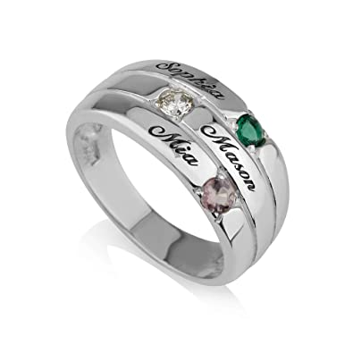 shipping free gold file designs platinum in with birthstones mothers rings