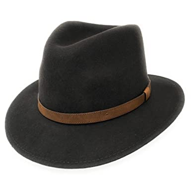 e7f4c790a Cotswold Country Hats Fedora Hat Mens Wool Felt Crushable with Leather Belt  Trim - Mixed Colours & Sizes