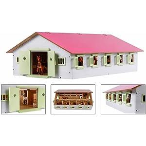Kids Globe 610168 1:24 Pink Stable 51 x 40.5 x 27.5 cm