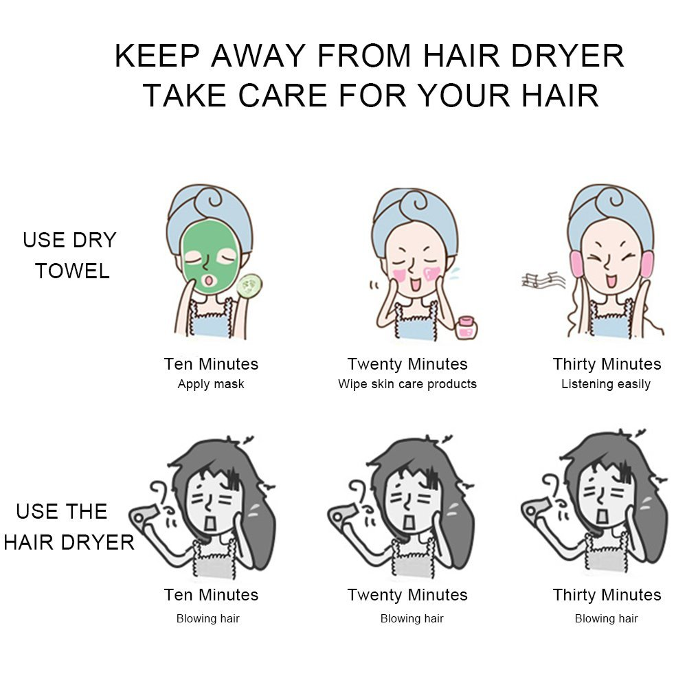 Microfiber Hair Towel - OKEER Super Absorbent Hair Drying Towel Large Anti-Frizz Turban Wraps for Women