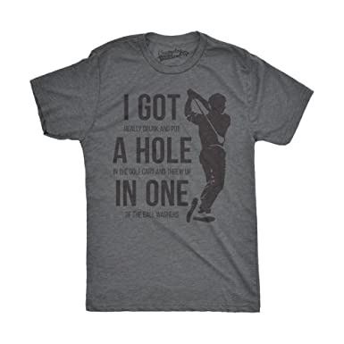 faba05b4a7 Mens Got a Hole in One Funny T Shirts Hilarious Golfing Novelty Tees  Vintage T Shirt