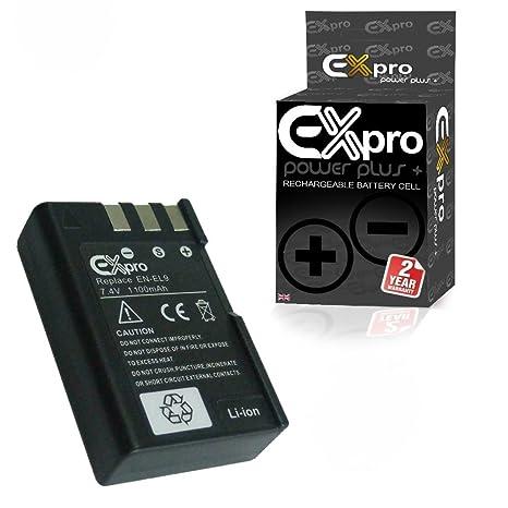 Ex-Pro EN-EL9 - Batería de recambio para Nikon D60 (1100 mAh, Li-Ion)