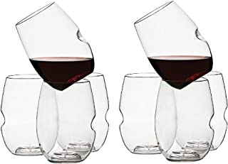 product image for Govino Go Anywhere Flexible Shatterproof Recyclable Wine Glasses, 16-ounce, Set of 8