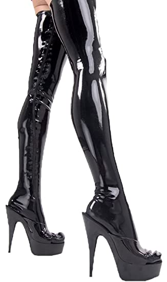 a1381d8993ce1a VsvoLatex Women's Latex Rubber Tights Long Stockings (XX-Small, Black)