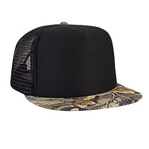 Otto Caps Camouflage Cotton Twill Flat Visor Polyester Foam Front Two Tone  Color Five Panel High Crown Golf Style Mesh Back Cap at Amazon Men s  Clothing ... 02f4526b905d