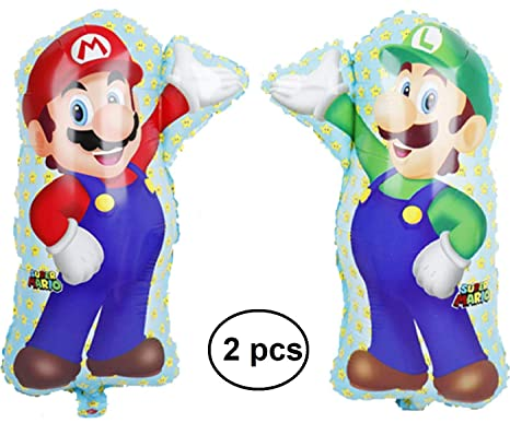 Ana Banana Paris 2 Globos Super Mario Bross 68 x 44 cm ...