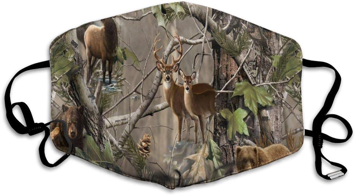Mascarilla para la Boca con diseño de Camuflaje, para Mantener el Calor en frío, protección contra el Polvo y el Humo para Hombres, Mujeres y Adolescentes