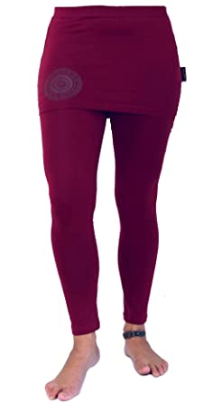 d46ba29e9976 Guru-Shop Yoga-Hose, Leggings mit Minirock Bio BW Yogi, Damen, Baumwolle,  Shorts, 3 4 Hosen, Leggings Alternative Bekleidung  Amazon.de  Bekleidung