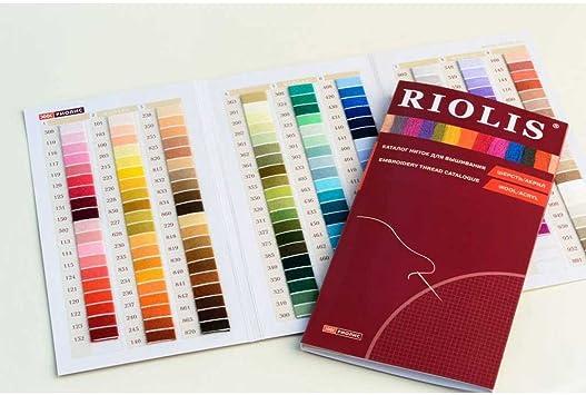 Riolis Stickgarn Farbkarte-Katalog