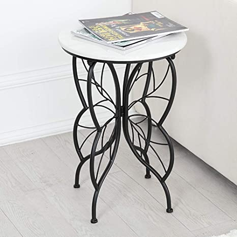 Amazon.com: Tables ZR-Wall Marble Countertop, Wrought Iron ...