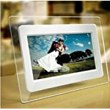 TuPuCN 7 Inch TFT LCD Wide Screen Digital 2000 Photos Display Frame with Calendar Support Tf Sd /Sdhc /Usb Flash Drives- Support 32GB SD Card