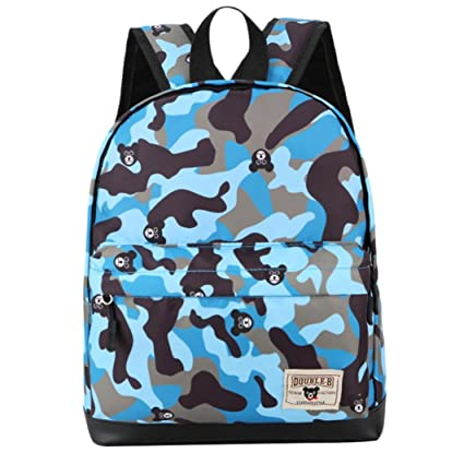b908ee6255 Hmlai Boys Girls Back to School Fashion Camouflage Print Backpack Toddler  School Bags (Blue)