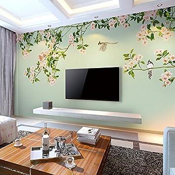 Schlafzimmer Fernseher | Huangyahui Mode Blumen Hintergrundbild Wandbilder Wohnzimmer