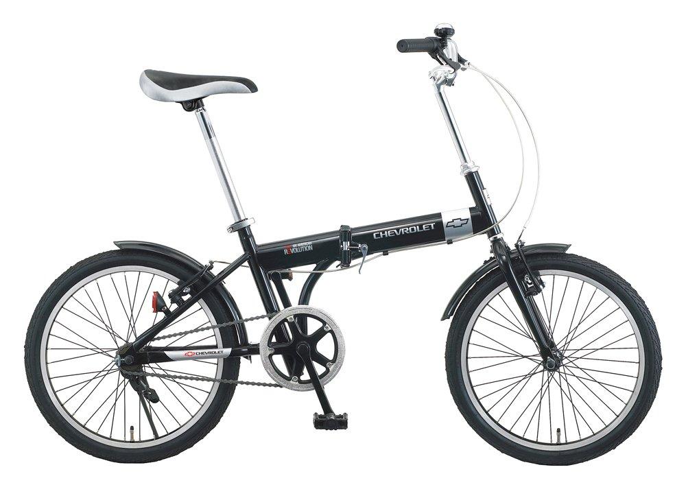 ミムゴ(MIMUGO) CHEVROLET(シボレー) 折りたたみ自転車 20インチ ブラック No.73123 B00B80EA8E