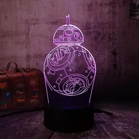 KangYD Luz nocturna 3D/Led 3D Night Light War Star Ship 7 ...