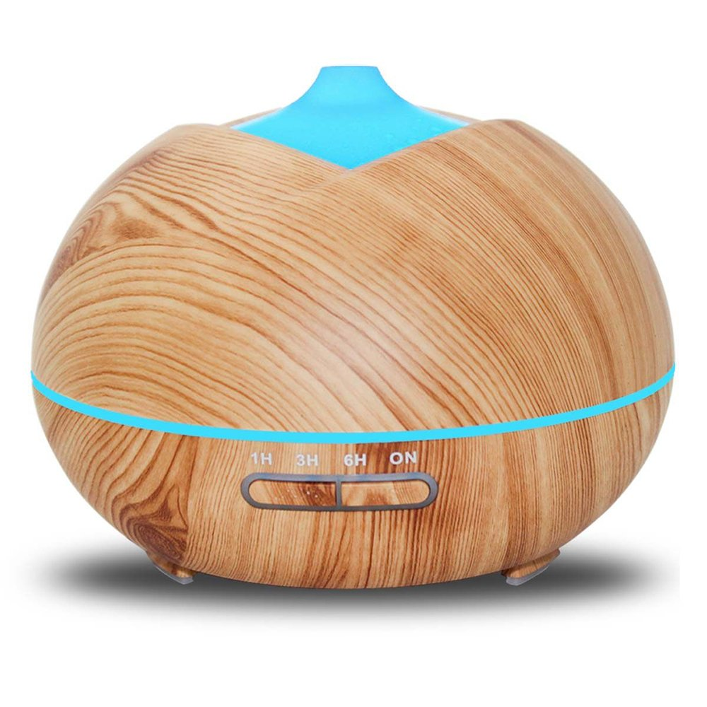 400ml Woodgrain Ultrasonic Aroma Humidifier Energy-saving Portable Home Mute Large Volume Air Humidifier,LightWoodColor