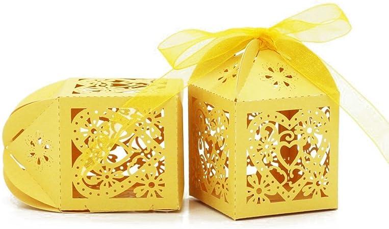 ultnice 50 unidades boda caramelos Caja, Amor Corazón cueva dulces ...