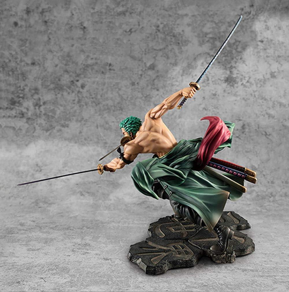 YXCC Roronoa Zoro Three Thousand World Statue Three Swords Fighting Doll Decoration Model One Piece Large Model