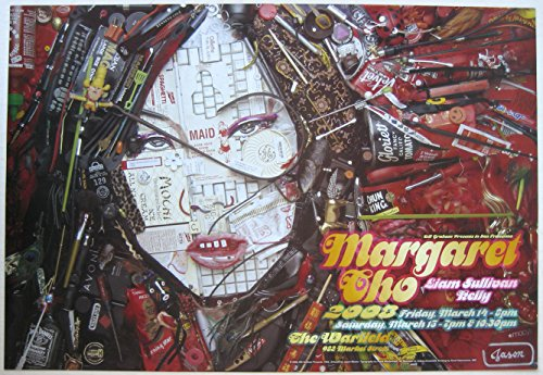 Oddtoes Music Memorabilia Margaret CHO- Original 2008 Comedy Concert Poster by Jason Mecier, Warfield BGP 354