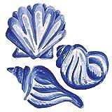 Wallies 12119 Blue Shells Wallpaper Cutout