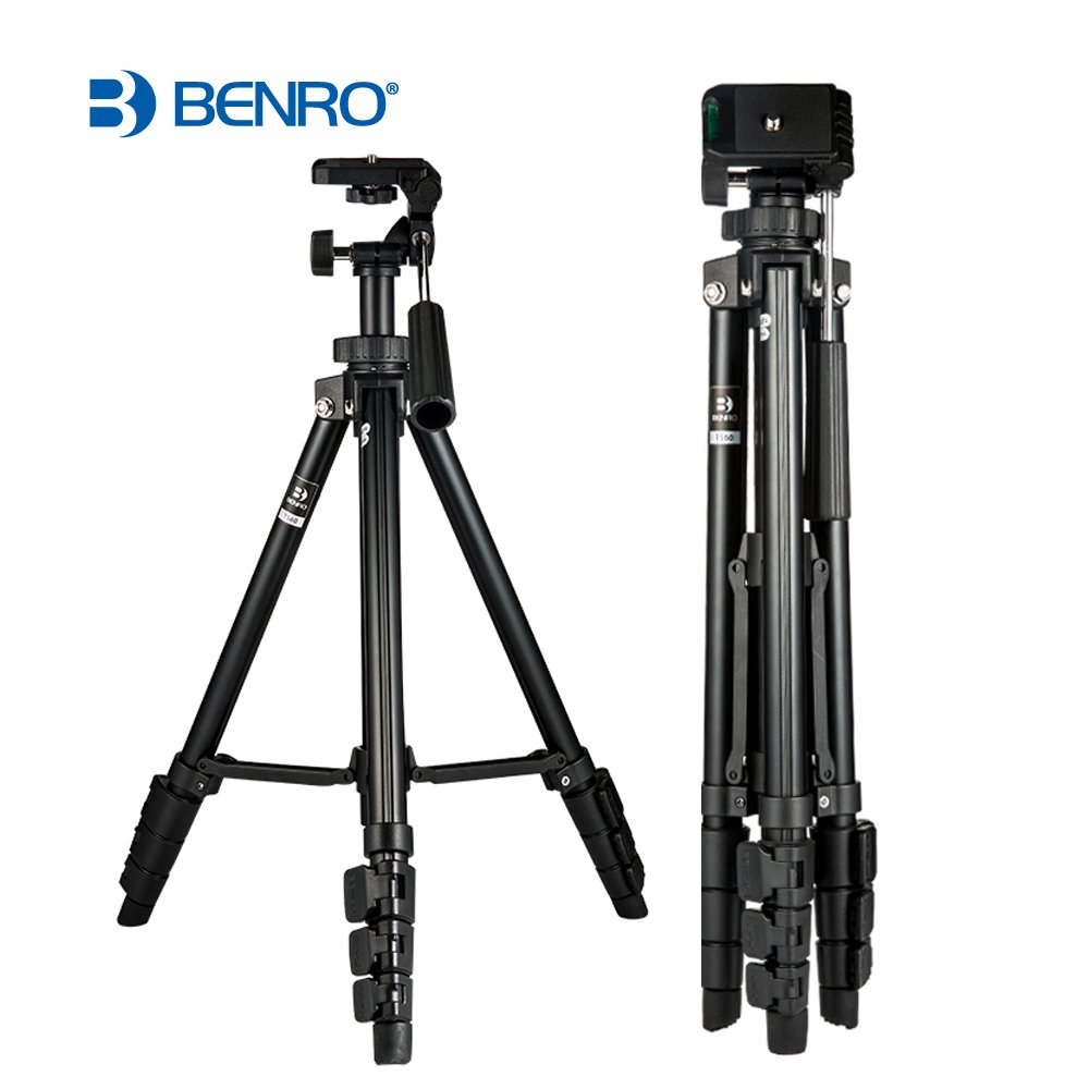 Tripod for dslr Benro T560 56.5 Inch Digital SLR Camera Aluminum Travel Portable Tripod with Carry Bag.Full Size Camera Tripod for Canon, Nikon, Sony, Samsung, Olympus, Panasonic & Pentax