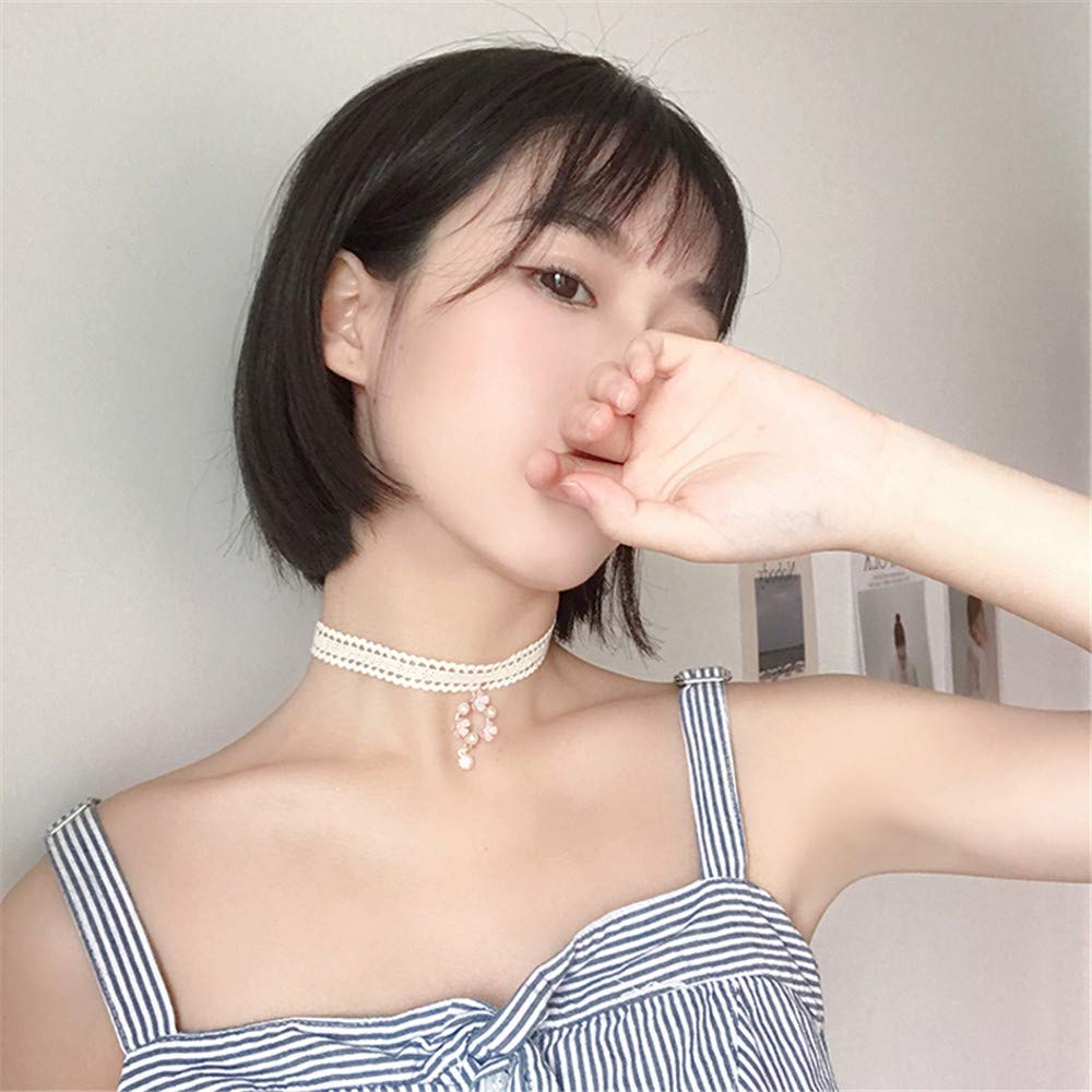 KOMO Women 925 Sterling Silver Fashion Pendants Necklace Personality Creative Exquisite Flower Crystal Pendant Necklace Clavicle Chain