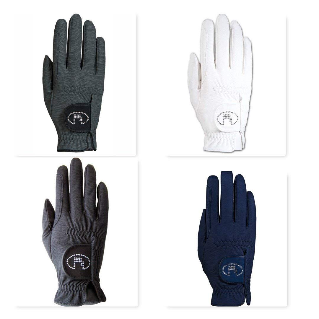 Roeckl – レディースクリスタルRiding Gloves Lisboa B00K8SROLM 6|white-crystal white-crystal 6