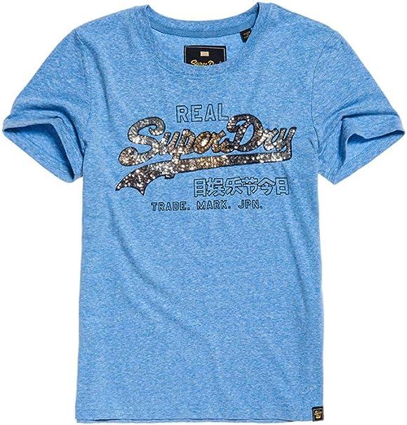Superdry Vintage Logo Carnival Sequin Entry Tee T-Shirt Femme
