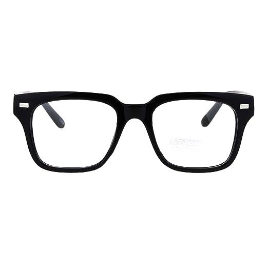 8795b6ebe0 Mens Luxury Designer Horned Rim Hipster Nerdy Clear Lens Eye Glasses Black