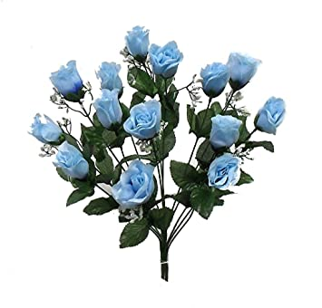 Amazon.com: 14 Roses Buds MANY COLORS Wedding Centerpieces Silk ...