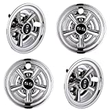 AW 4pcs 8'' Golf Cart Wheel Cover Hub Cap SS Chrome Finished 5-Spoke Fits for EZGO Club Car Yamaha Easy Snap-in