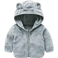 HOMEBABY Kids Baby Girl Boy Winter Warm Fleece Jacket Fluffy Cloak Hoodie Coat Pullover Jumper Toddlers Thick Cardigan Casual Long Sleeve Tops Outwear